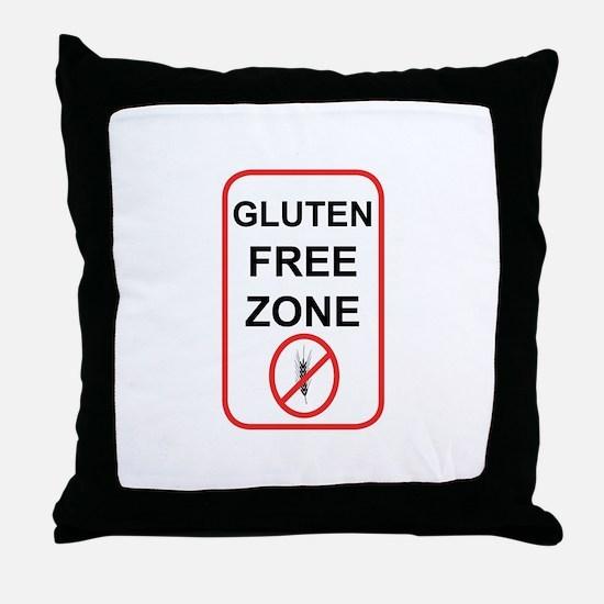 Gluten-Free Zone Throw Pillow