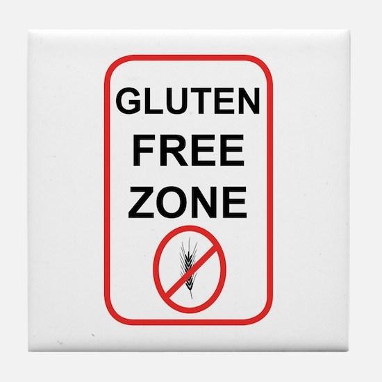 Gluten-Free Zone Tile Coaster