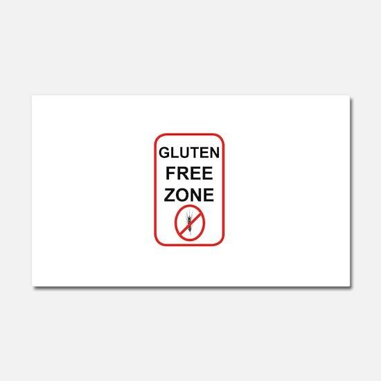 Gluten-Free Zone Car Magnet 20 x 12
