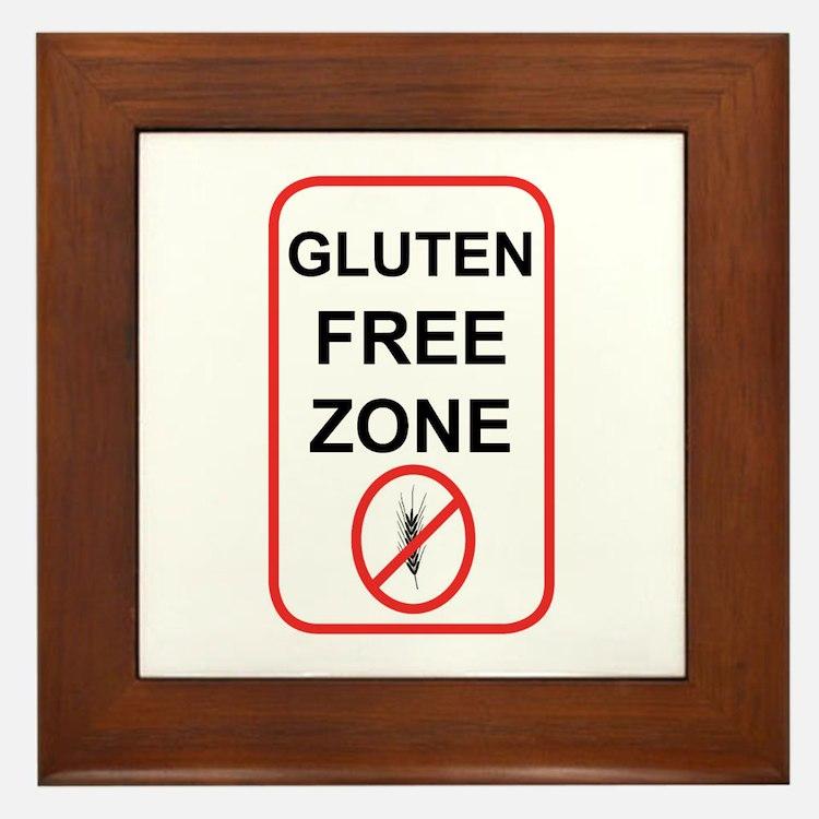 Gluten-Free Zone Framed Tile