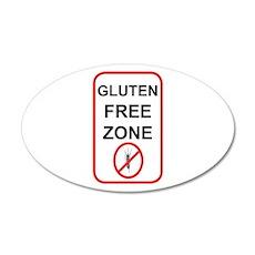Gluten-Free Zone 22x14 Oval Wall Peel