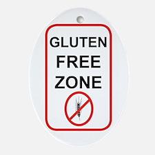 Gluten-Free Zone Ornament (Oval)