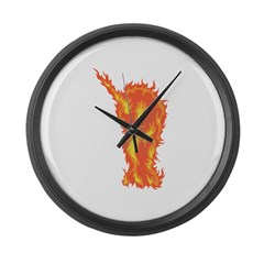 Fire Narwhal Large Wall Clock