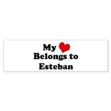 My Heart: Esteban Bumper Bumper Sticker