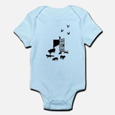 Funny Angry birds pig soldier pig Infant Bodysuit