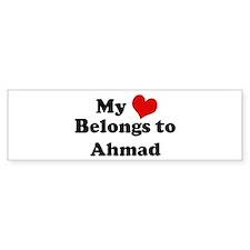 My Heart: Ahmad Bumper Bumper Sticker