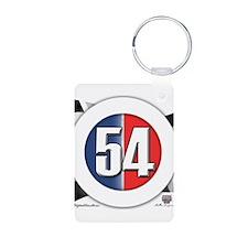 54 Cars Logo Aluminum Photo Keychain