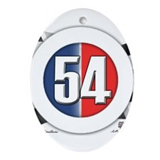 54 Cars Logo Ornament (Oval)