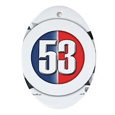 53 Cars Logo Ornament (Oval)