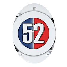 52 Cars Logo Ornament (Oval)