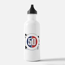 50 Cars Logo Water Bottle