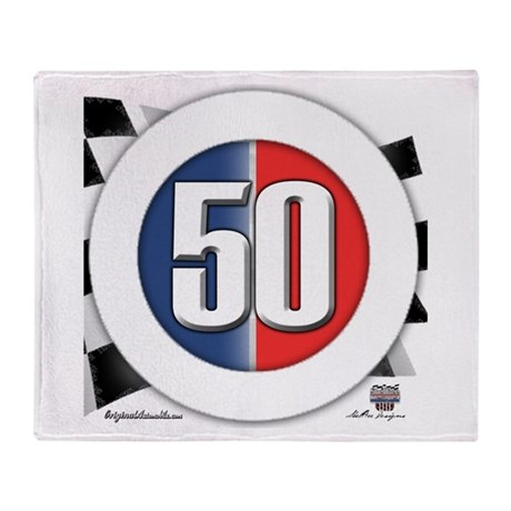 50 Cars Logo Throw Blanket