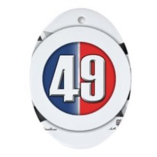 49 Cars Logo Ornament (Oval)