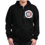 48 Cars Logo Zip Hoodie (dark)