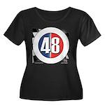 48 Cars Logo Women's Plus Size Scoop Neck Dark T-S