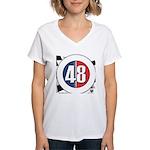 48 Cars Logo Women's V-Neck T-Shirt