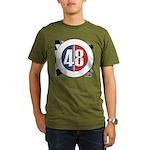 48 Cars Logo Organic Men's T-Shirt (dark)