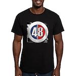 48 Cars Logo Men's Fitted T-Shirt (dark)