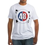 48 Cars Logo Fitted T-Shirt