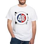 48 Cars Logo White T-Shirt