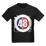 48 Cars Logo Kids Dark T-Shirt