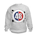48 Cars Logo Kids Sweatshirt