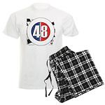 48 Cars Logo Men's Light Pajamas