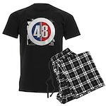48 Cars Logo Men's Dark Pajamas