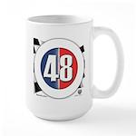 48 Cars Logo Large Mug