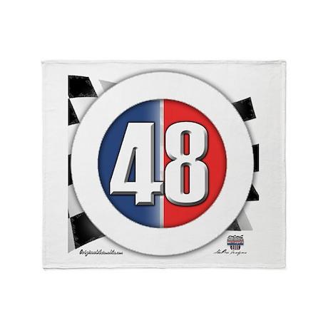 48 Cars Logo Throw Blanket