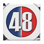 48 Cars Logo Tile Coaster