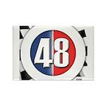48 Cars Logo Rectangle Magnet