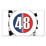 48 Cars Logo Sticker (Rectangle 10 pk)