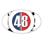 48 Cars Logo Sticker (Oval 10 pk)