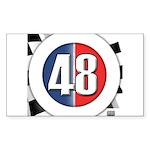 48 Cars Logo Sticker (Rectangle)