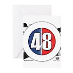 48 Cars Logo Greeting Cards (Pk of 10)