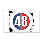 48 Cars Logo 22x14 Wall Peel
