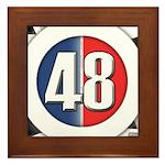 48 Cars Logo Framed Tile