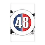 48 Cars Logo Mini Poster Print