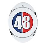 48 Cars Logo Ornament (Oval)