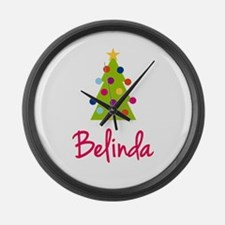 Christmas Tree Belinda Large Wall Clock