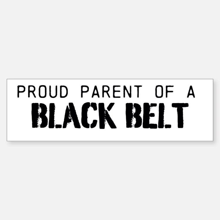 Black Belt Parent Bumper Bumper Sticker