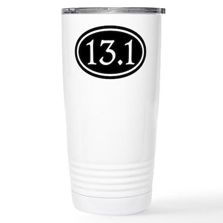13.1 Half Marathon Oval Stainless Steel Travel Mug