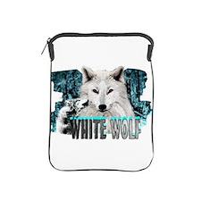 white wolf iPad Sleeve