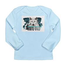 white wolf Long Sleeve Infant T-Shirt
