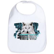 white wolf Bib