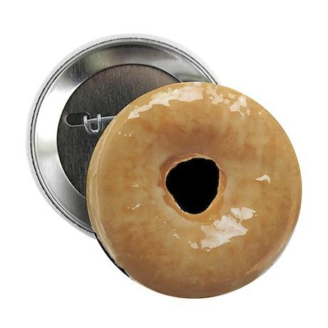 """Donut raised glazed 2.25"""" Button"""
