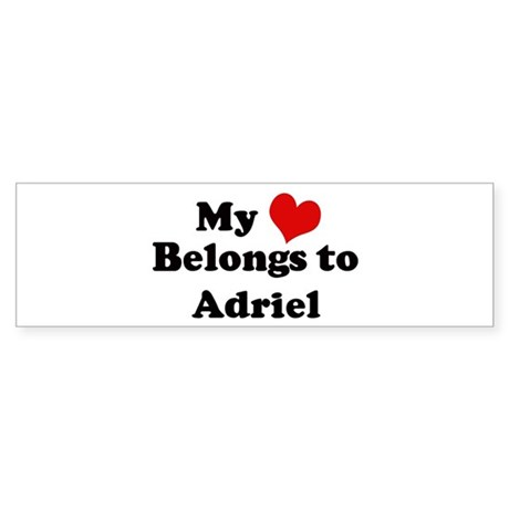 My Heart: Adriel Bumper Sticker