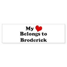 My Heart: Broderick Bumper Bumper Sticker