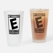 E for Everyone Drinking Glass